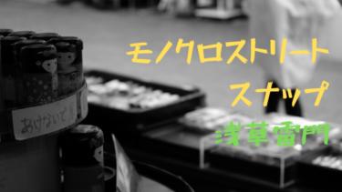 「浅草雷門」でモノクロスナップしてきたよ!