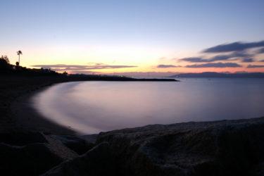 360度カメラで「日の出」撮影。