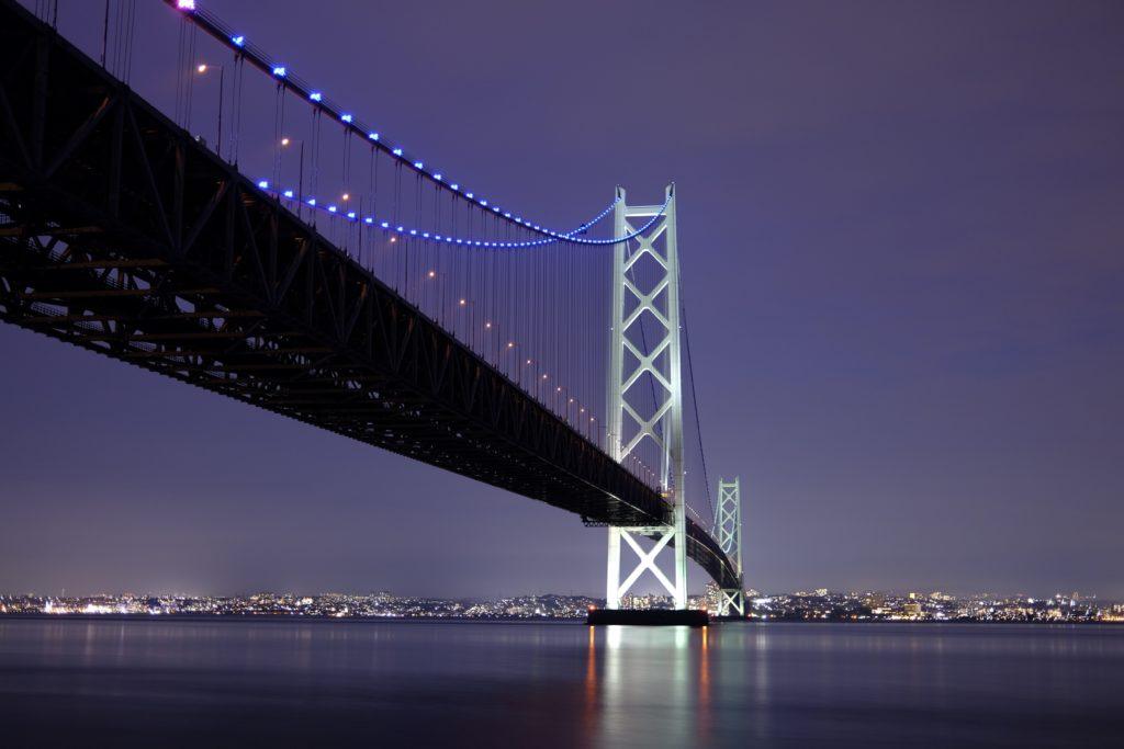 明石海峡大橋 夜景