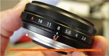 富士フイルム「XF 27mm  F2.8 Ⅱ」が2021年に登場する!?