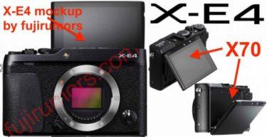 富士フイルム「X-E4」は自撮り対応のチルト式モニタと電子ファインダーを搭載する?
