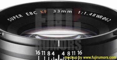 【速報】フジノンXF33mm F1.4 R WRが2021年に登場する!?