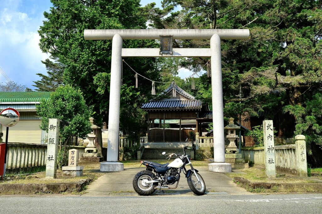 御坂神社とTW225