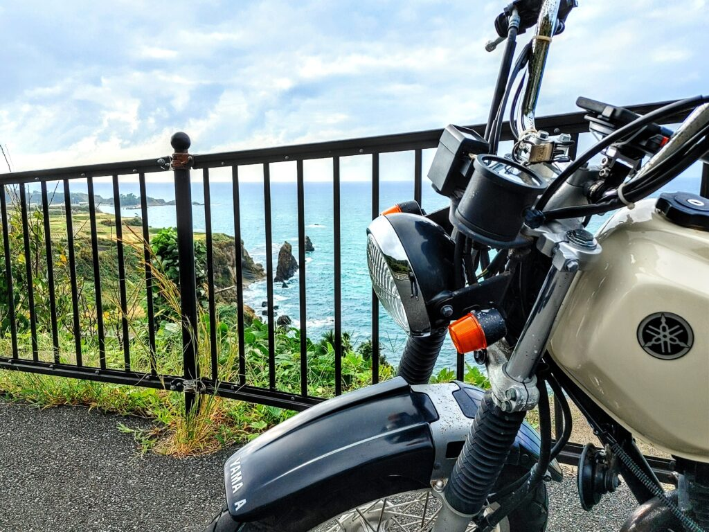 屏風岩 バイク